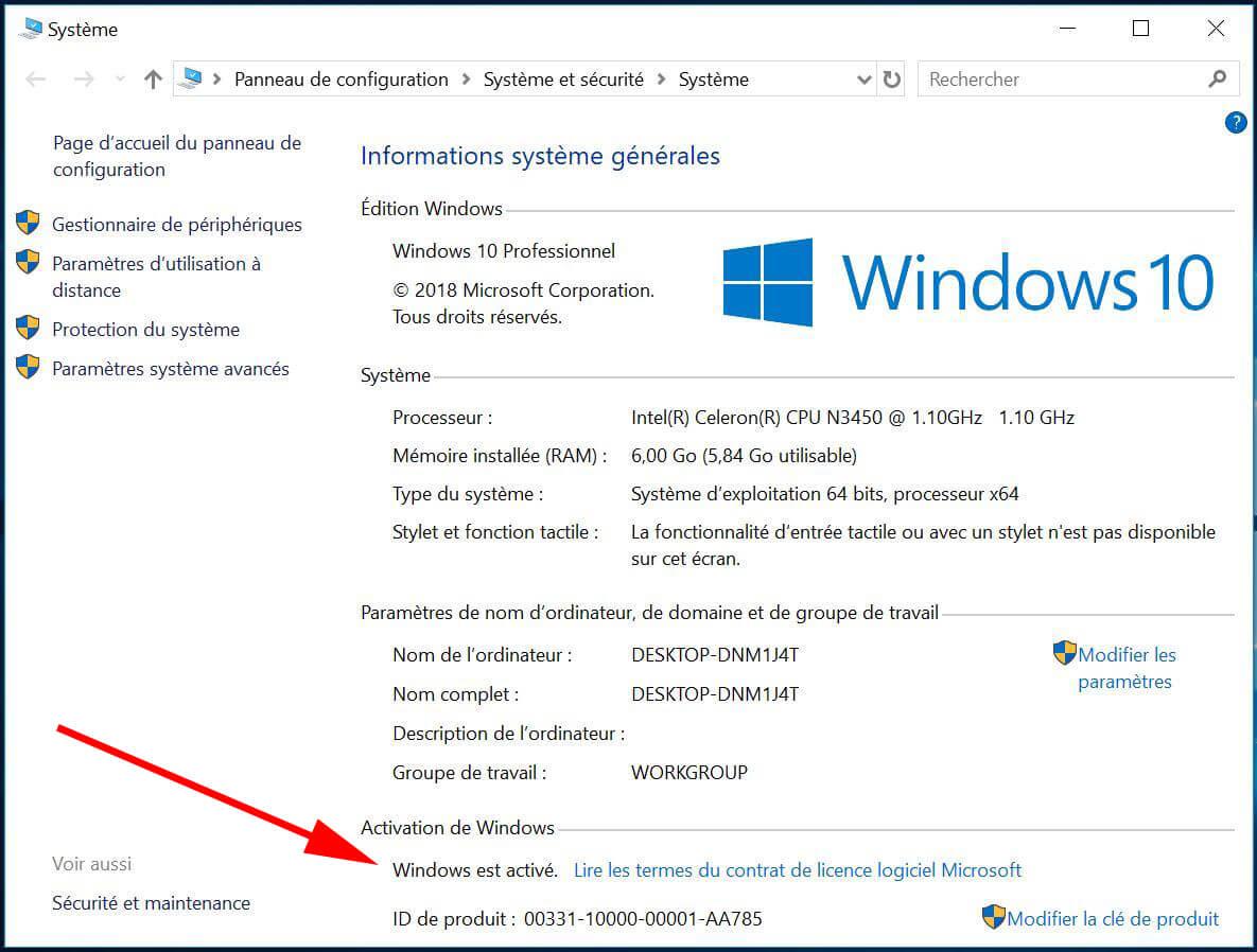 Windows activer