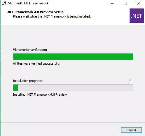 Installer Net Framework