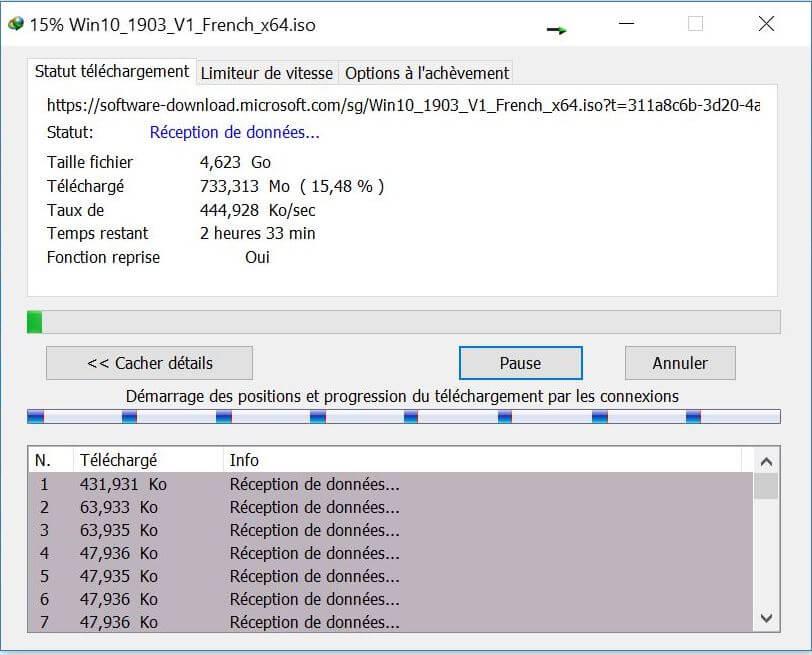 Telechargement Windows et Office avec IDM